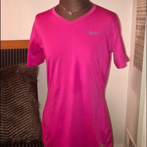 Ladies Nike Pro Fitted V-Neck Top, Size Large